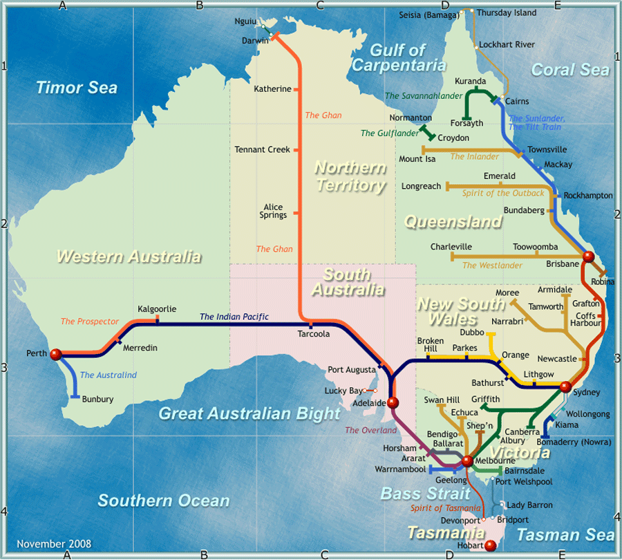 perth rail map australia sydney-#30